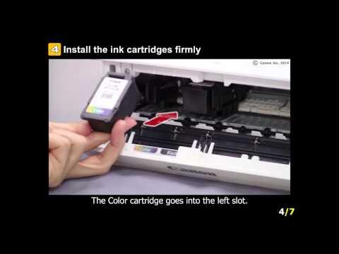 PIXMA iP2820: Installing the ink cartridges