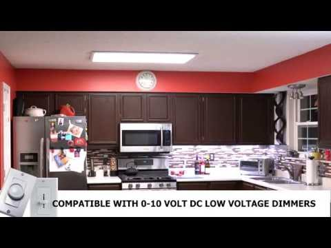 Kitchen Ceiling Light Fixture Shutters How To Install Led Panel - Youtube