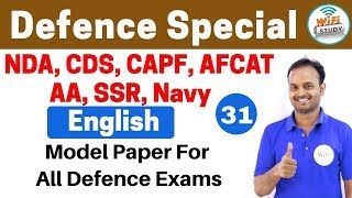 11:00 PM - Defence Special English by Sanjeev Sir Day #31 |Model Paper for all Defence Exams