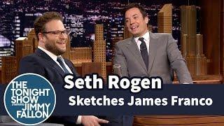 Seth Rogen Sketches a James Franco Portrait