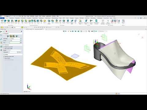3d shoe design software, Tecnología de fijación superficial