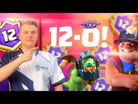 12-0! NEW Miner Poison Control Deck LIVE Grand Challenge Gameplay - Clash Royale