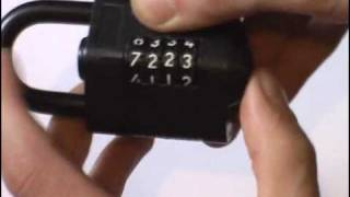 Opening a Squire CP1 Combination Padlock