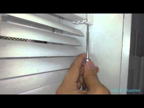 How to remove 25mm aluminium venetian blind