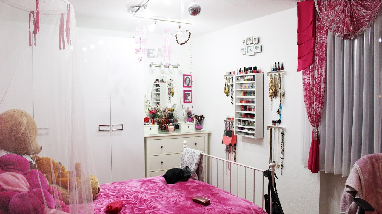 pink wei es m dchen zimmer ikea m bel organisation. Black Bedroom Furniture Sets. Home Design Ideas