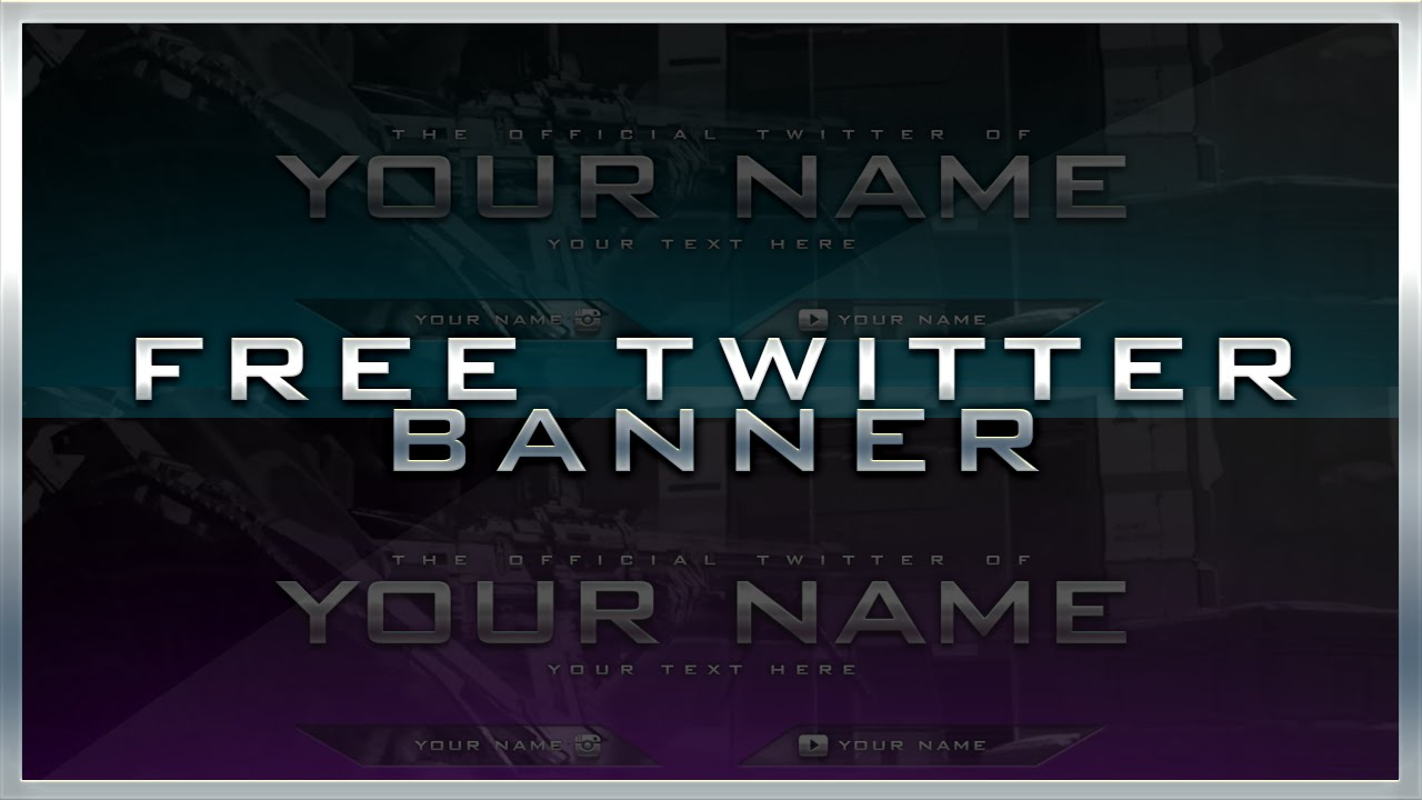 free twitter header banner template youtube