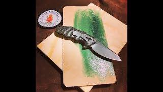 Læder stropning af kniv.