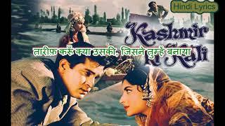 Yeh Chand Sa Roshan Chehra - Kashmir Ki Kali (1964) - Karaoke With Hindi Lyrics