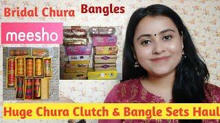 Huge Chura &amp Bangles HaulMeesho Bangles,Chura &amp Clutches Haul Aakankshakumar