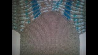 Простой способ вязания   рукава  спицами .  Без сборки и расчёта петель.