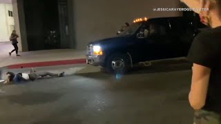 Truck slams into protester during Breonna Taylor demonstration in Hollywood | ABC7