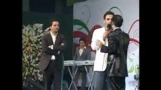 Hasan Reyvandi  Concert 2013   کلیپ خنده دار احسان علیخانی و حسن ریوندی