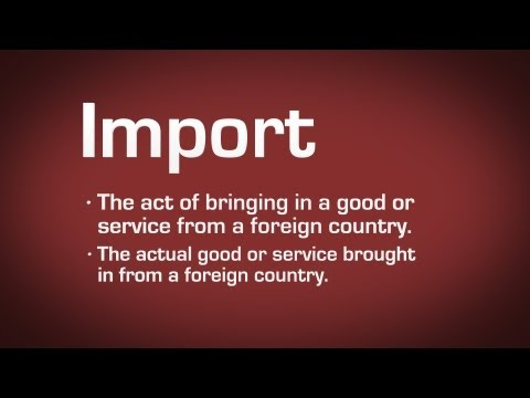 Import Definition - YouTube