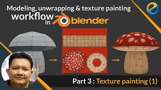 Modeling, Unwrapping and Texture painting workflow in Blender | Part 3 : Texture painting 1