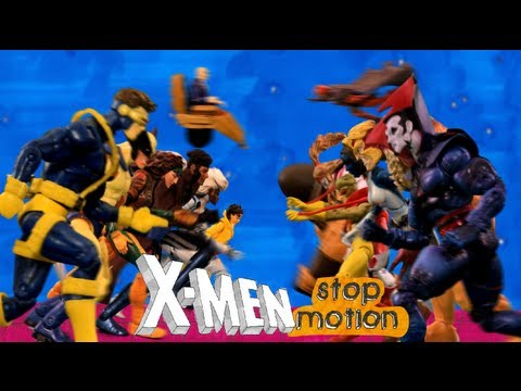 X-Men Stop Motion Intro (1992) Theme Song ᴴᴰ