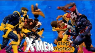 X-Men Stop Motion Intro Theme Song: HD 1992 Apocalypse