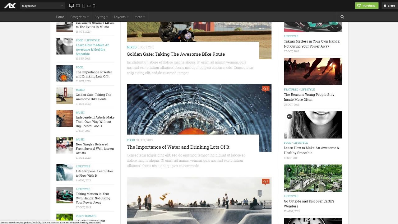 Magaziner - Responsive WordPress Magazine Theme - YouTube