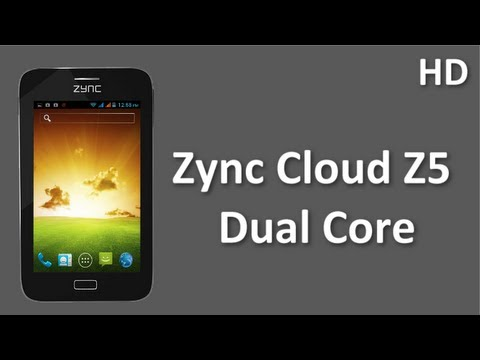Zync Cloud Z5 Dual Core  mobile Price and Specifications with 1Ghz Dual Core Processor