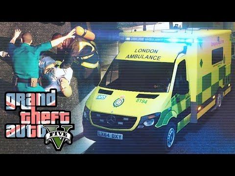 GTA 5 Rescue Mod V #1 -  London Ambulance
