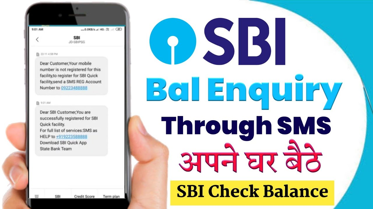 how to check balance of state bank of india