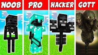 Minecraft NOOB vs. PRO vs. HACKER vs. GOTT: WITHER BOSS MUTANT in Minecraft