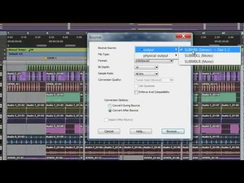 Pro Tools Tips&Tricks-BOUNCE TO DISK(MP3,WAV,AIFF)
