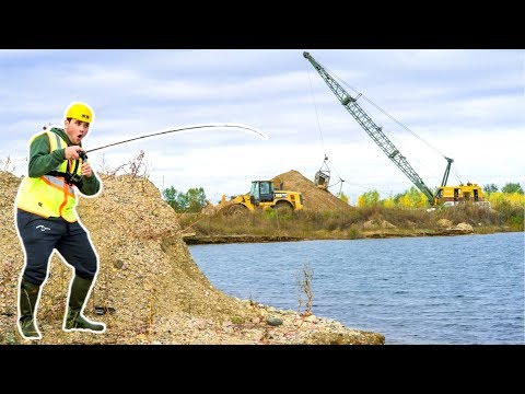 SNEAKING into CONSTRUCTION SITE Ponds!!! (Bad Idea!)