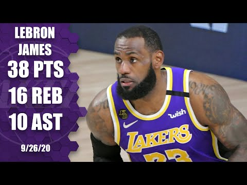 LeBron James leads Lakers with 38-point triple-double GAME 5 HIGHLIGHTS  2020 NBA Playoffs