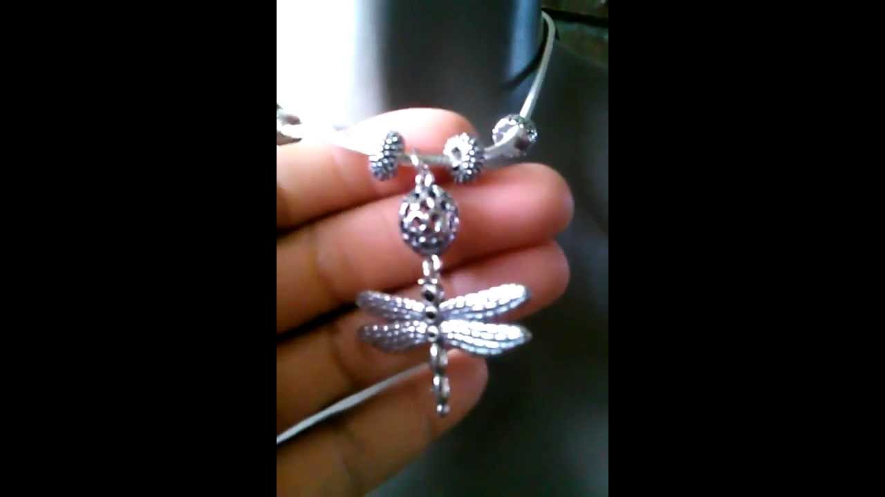 My Pandora Necklace Lucky Dragonfly Pendant Youtube