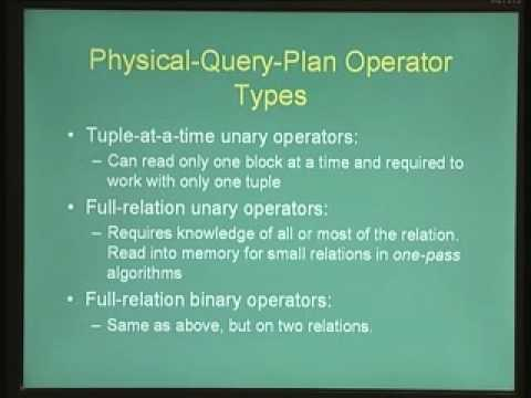Lecture - 14 Query Processing and Optimization