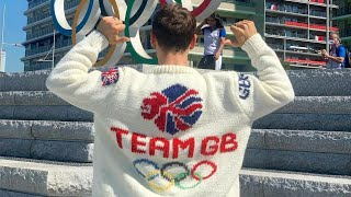 video: Tom Daley's latest Olympic triumph: a self-knitted Team GB cardigan