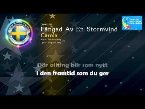 """[1991] Carola - """"Fångad Av En Stormvind"""" (Sweden) - [Karaoke version]"""