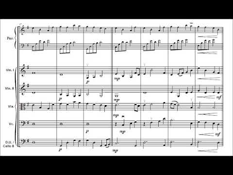 Kingdom Hearts, Dearly Beloved Y. Shimomura for piano and easy string orchestra