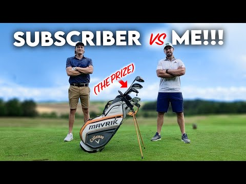 ME vs A SUBSCRIBER for a new set of golf clubs!
