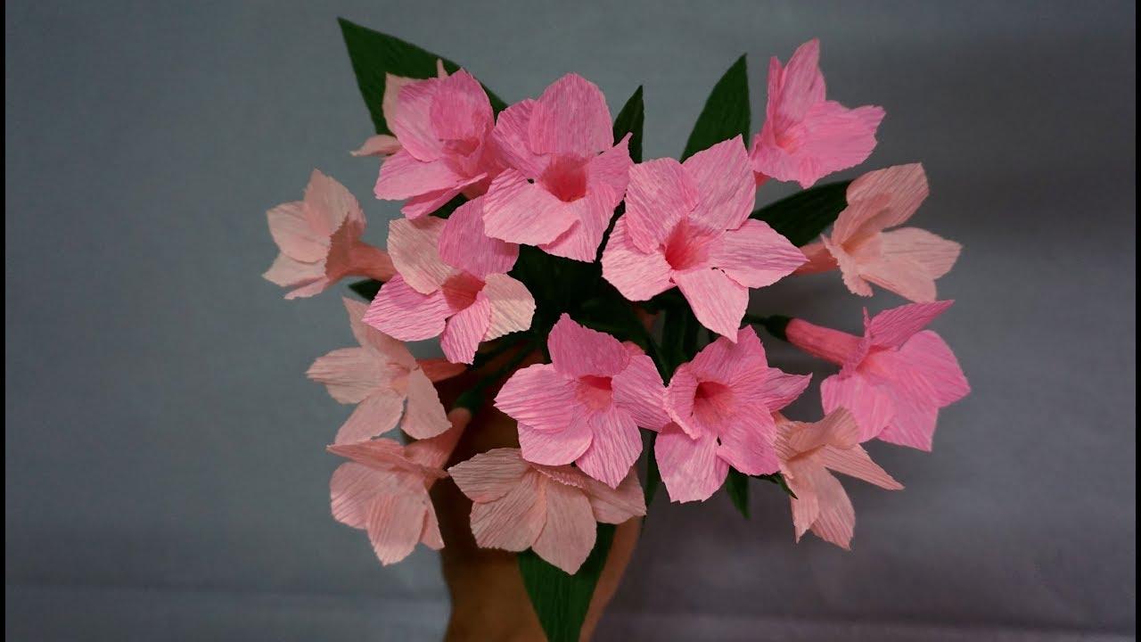 How To Make Garlic Vine Flower From Paper Paper Flower Tutorials