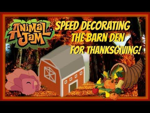 Download Animal Jam: Speed Decorating The Ol' Barn Den For Thanksgiving! 2017
