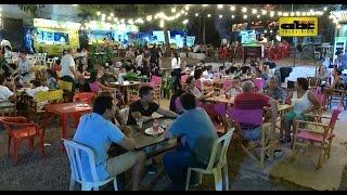 El microcentro de Asunción tiene vida a la noche