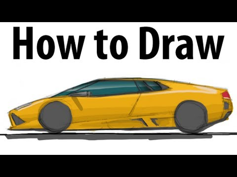 how to draw lamborghini murcielago