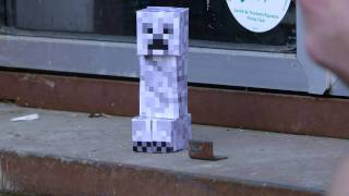 Creeper papercraft explosion fail