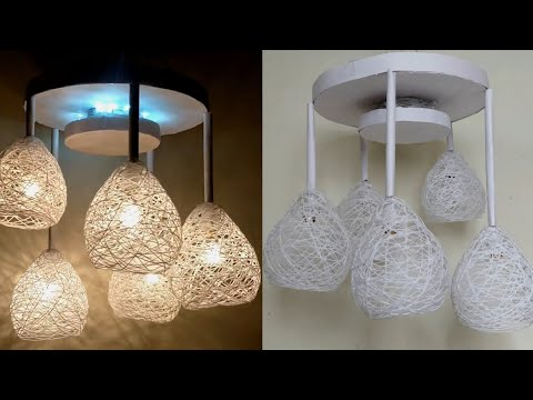 home made wrapped balloon selling lamp for diwali decoration