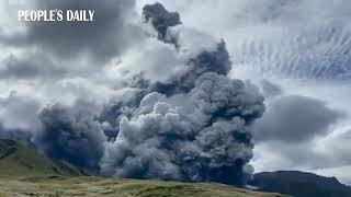 Mount Aso erupted in Japan on Wednesday, blasting ash several miles into the sky