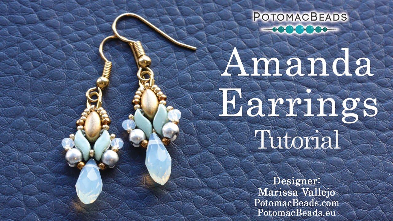 e2c183490 Earring bead weaving projects, patterns, & tutorials.