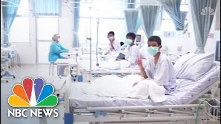 New Video Released Of Rescued Thai Kids At Hospital | NBC News