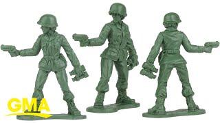 Виробник іграшок представляє жіночий іграшкових солдатиків після того, як заяву від 6-річна дівчинка L цифровий ДМА