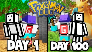 We Spent 100 Days In Minecraft Pixelmon - Duo Minecraft Pixelmon 100 days