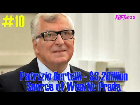 Top 10 richest people in Italy in 2017
