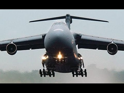WORLDS LARGEST MILITARY AIRCRAFT The US Military C-5 Galaxy Military  Transport Aircraft