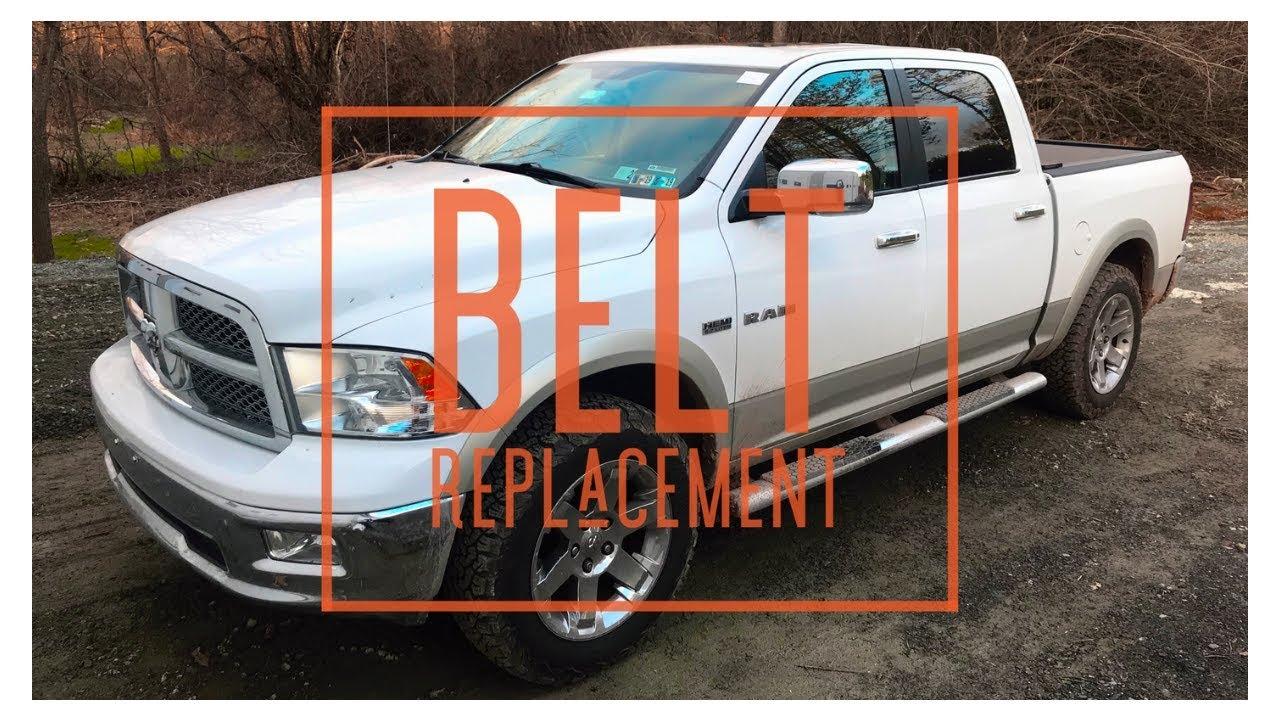 2010 Dodge Ram Serpentine Belt Replacment - YouTubeYouTube
