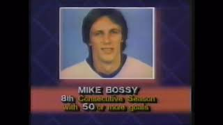 March 5 1985 Flyers at Islanders Mike Bossy Scores 50th Goal for 8th straight season