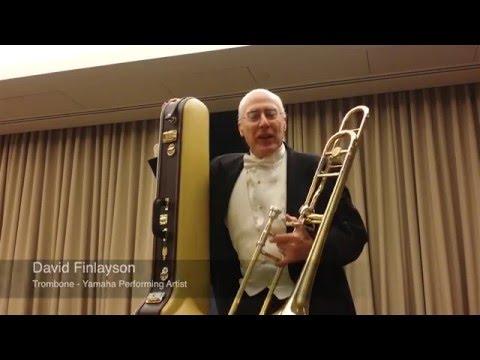 The Yamaha YSL - 882O20TH 20th Anniversary Xeno Trombone with David Finlayson